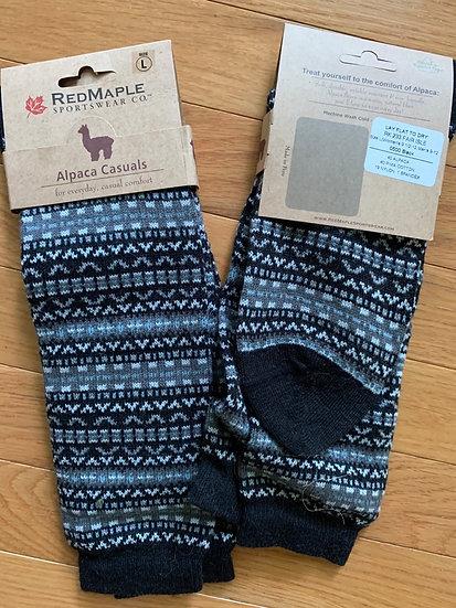 Fair Isle Alpaca Crew Socks