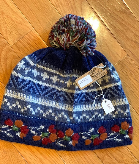 Blue Ridge Alpaca Hat with Pom Pom