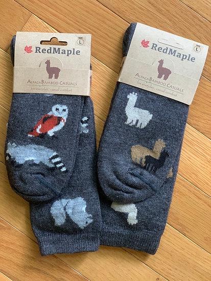 Wildlife and Alpaca Crew Socks