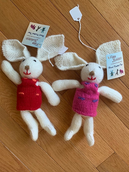 Hand knit Alpaca Bunnies