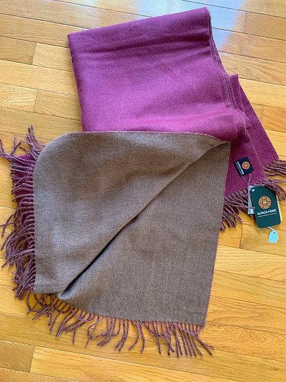 Alpaca Blanket - Cherry and Pecan