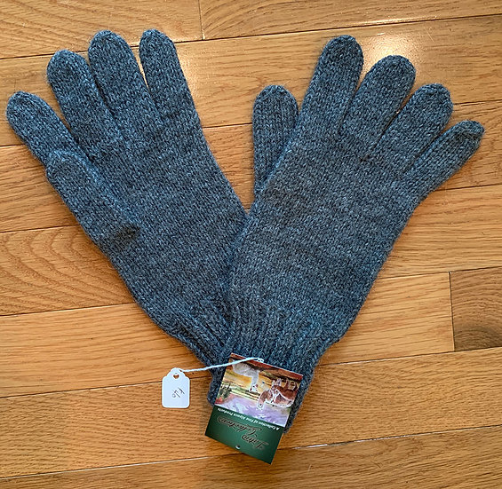 Simple Gray Alpaca Gloves