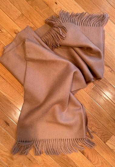 Alpaca Blanket- Camel
