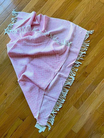 Soft Pink Alpaca Baby Blanket