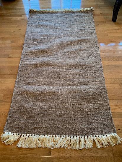 3x5.6 Foot Handwoven Alpaca Rug with Fringe