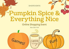 pumpkin and spice virtual shopping event