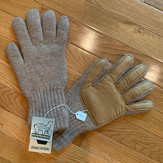 Alpaca Gloves with Deerskin Palm