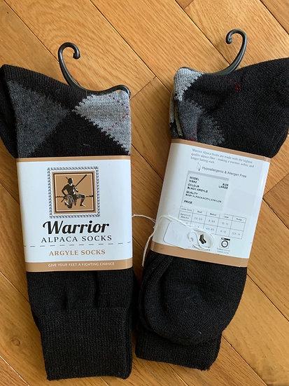 Argyle Alpaca Dress Socks