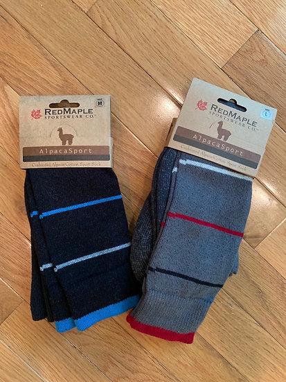 Alpaca Striped Sport Knee High Sock