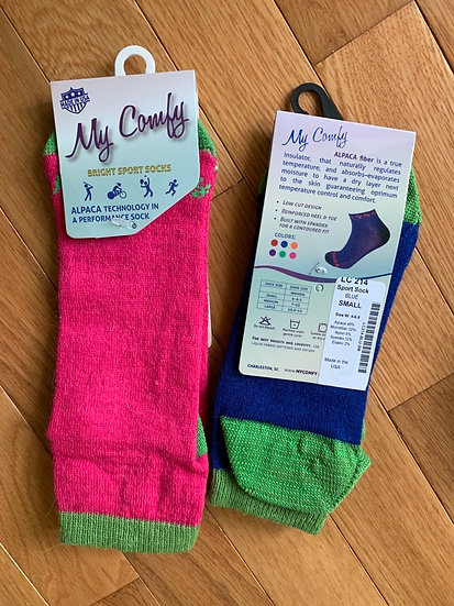 My Comfy Brightly Colored Alpaca Ankle Socks