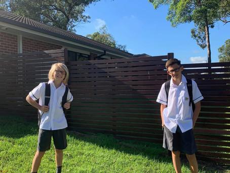 Kids back at school!