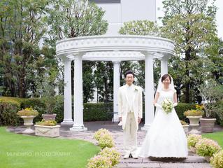 結婚式@パレスホテル立川 ロケーションフォト2(白ドレス)
