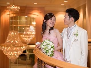 結婚式@パレスホテル立川 ロケーションフォト(色ドレス)