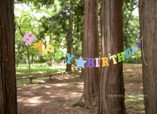1歳のお誕生日おめでとう!お父さんお母さんも1歳おめでとう!!