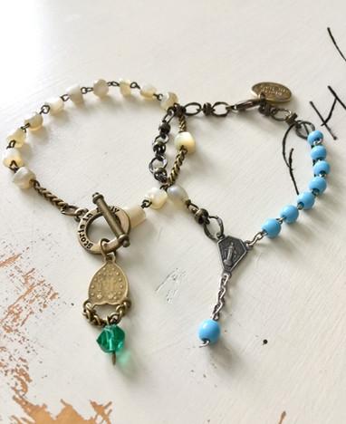 Rosary bracelets for summer Storie style