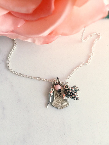 Good luck sterling silver Italian charm necklace