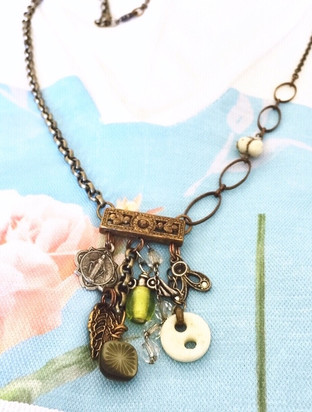 Vintage medals, charms and buttons