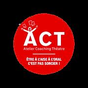 Logo méthode ACT (Atelie Coaching Théâtre)