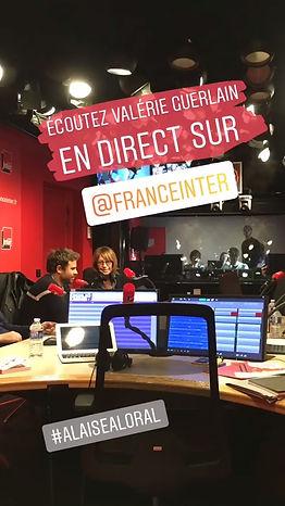Valérie Guerlain dans studio France Inter