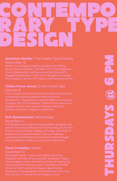 Imagined Type Design Event Flyer