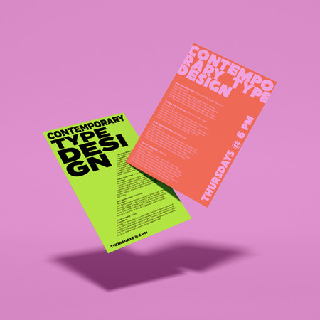 TYPE LECTURE FLYERS