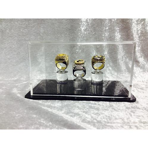 Triple Ring Display Case