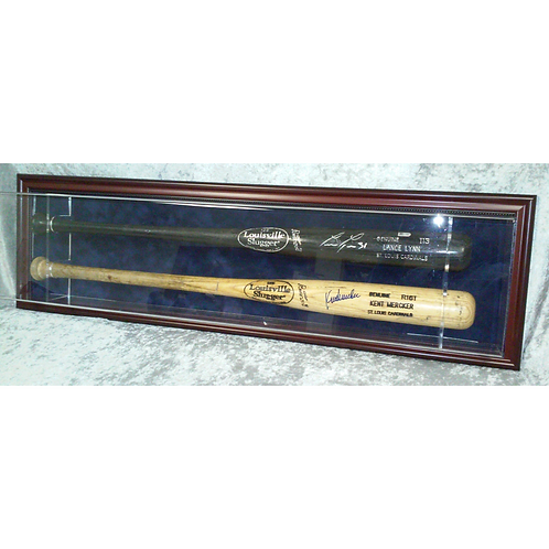 Double Baseball Bat Display Case