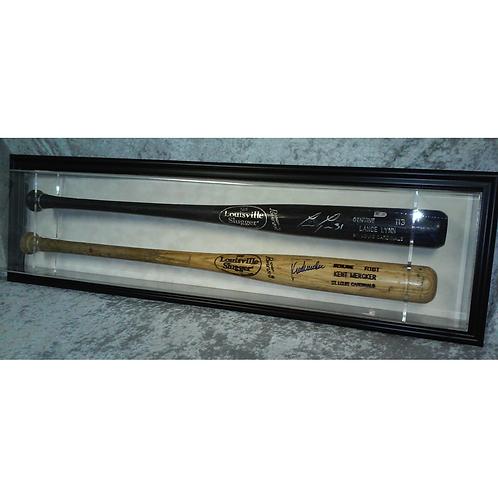 Double Baseball Bat Display Case