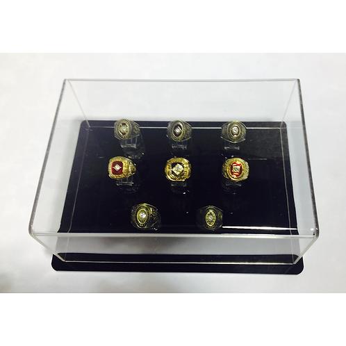 8 Ring Display Case