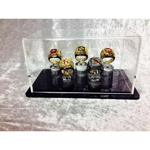 5 Ring Display Case