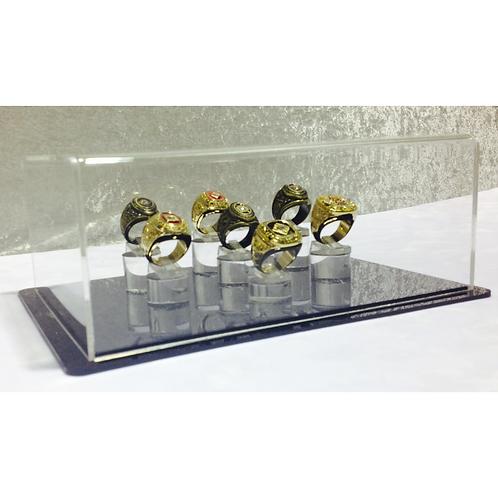 7 Ring Display Case