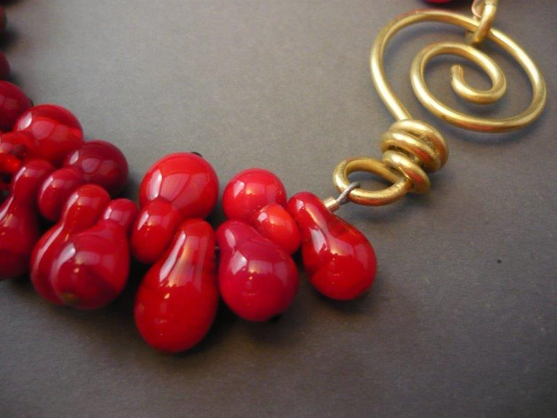 """""""Red Berries"""" necklace"""