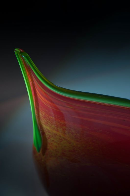 """""""Heliconia"""" bowl detail"""