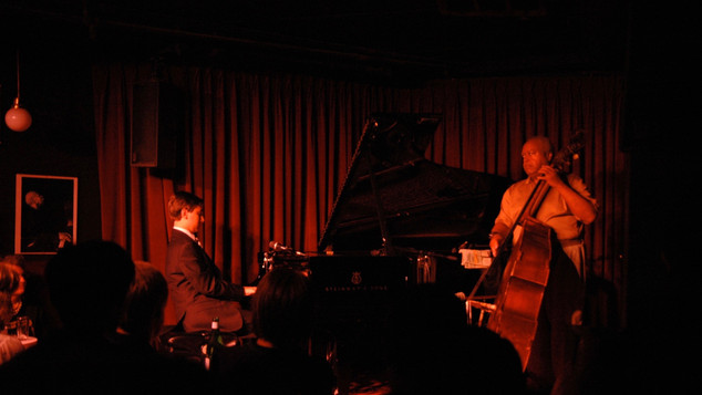 Andrew Andron with Ray Drummond at the Village Vanguard