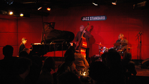 Andrew Andron with Ray Drummond and Leroy Williams at Jazz Standard