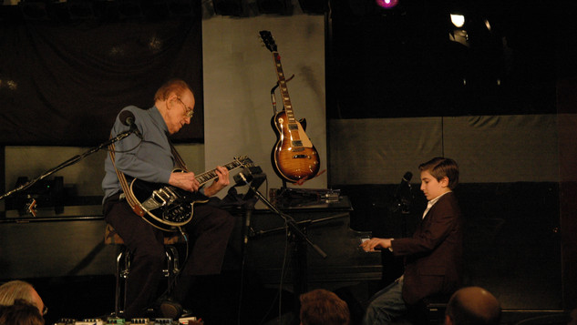 Andrew Andron with Les Paul at the Iridium