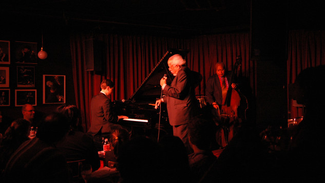 Andrew Andron with Barry Harris and Ray Drummond at the Village Vanguard
