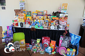 Pet food and supplies collected for animal shelters in 2017