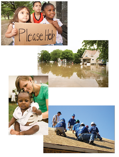 Disaster Images - kids, flooding, habitat for humanity