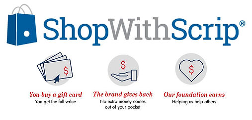 ShopWithScrip - Buy a gift card; the brand gives back, our foundation earns