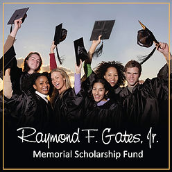 Raymond F. Gates, Jr. Memorial Scholarship Fund - Graduating Students with Caps and Gowns
