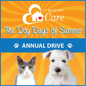 Dog Days of Summer Logo with cat and dog