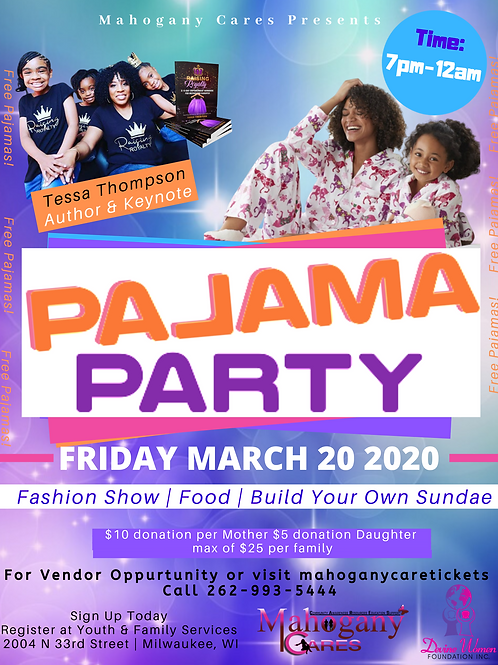 Pajama Party Ticket Adult