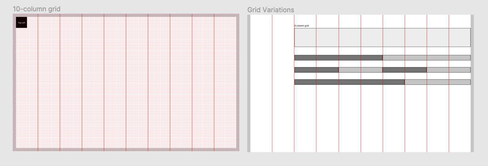 Establishing grid and spacing rules