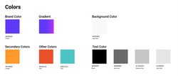 Creating our color palettes as part of our system visual design language