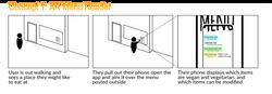 AR menu reader concept sketch