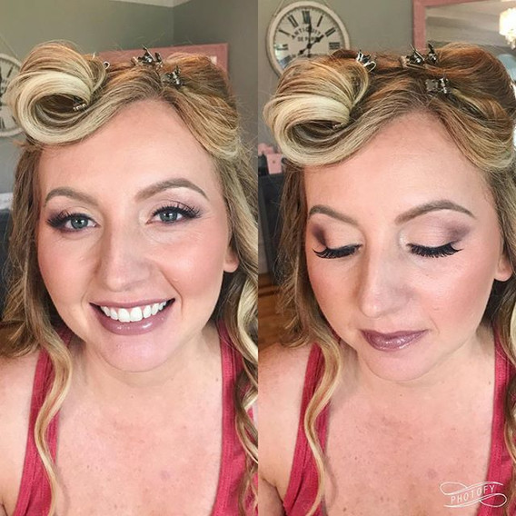 Glammed this gorg bridesmaid today! ._._