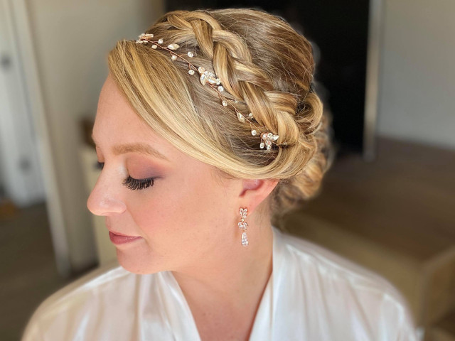 Wedding day hair & makeup