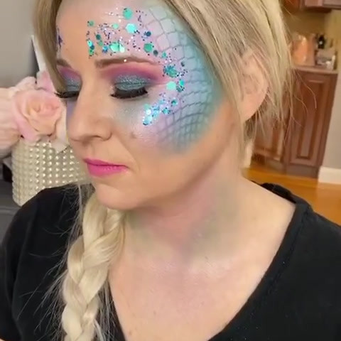 Mermaid makeup video
