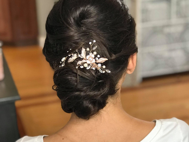 Bride hair trial